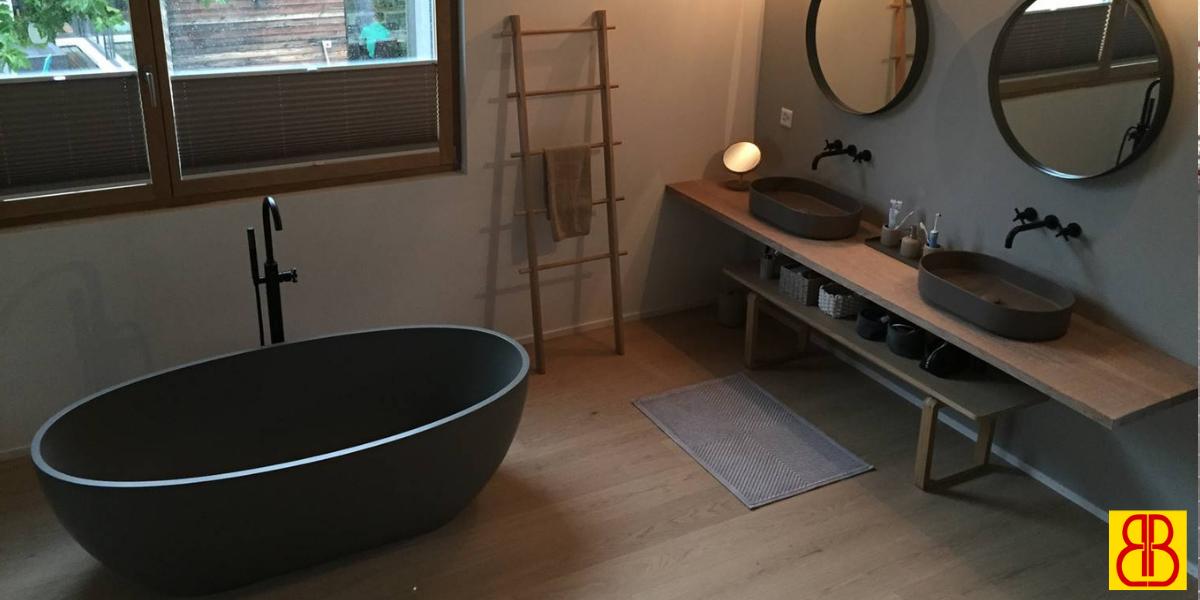 Bagno in legno e ceramica